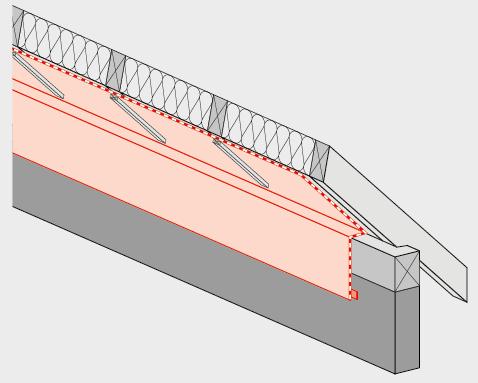 Der luftdichte Anschluss hat auf die luftdichte Aussenwand zu erfolgen, z.B. ein verputztes Mauerwerk oder eine Betonaussenwand. Bei einer Aussenwand in Holzbauweise werden die beiden Luftdichtheitsschichten direkt miteinander luftdicht verklebt.