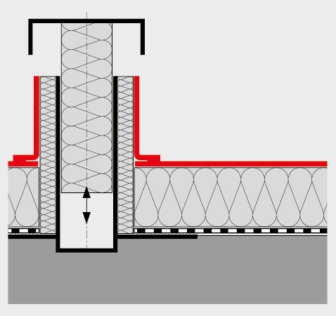 Mit Kontrollrohren kann die Funktionstüchtigkeit des Flachdaches einfach geprüft werden.