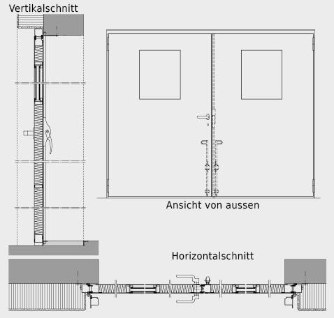 Konstruktionssystematik von Flügeltor.