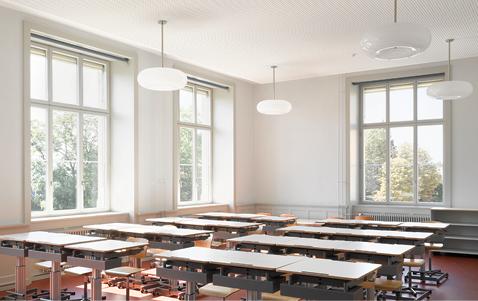 Die mit einer Innenwärmedämmung sanierten Klassenzimmer bieten behagliche Verhältnisse für einen zeitgemässen Unterricht