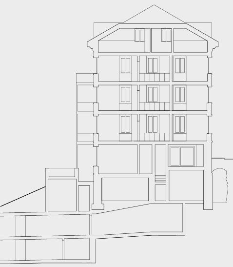 Der Schnitt zeigt die Komplexität der Sanierung.