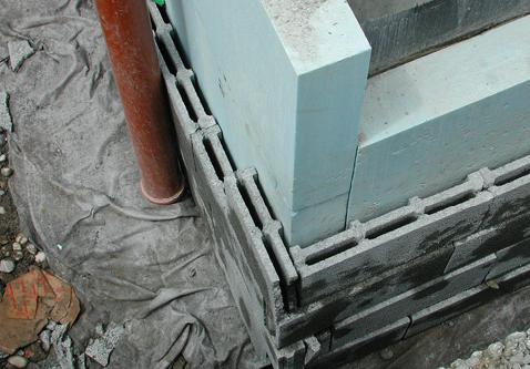 Filterplatten und die mit einem Vlies abgedeckte Sickerpackung über dem Sickerrohr gewährleisten die äussere Entwässerung vor den XPS-Platten.